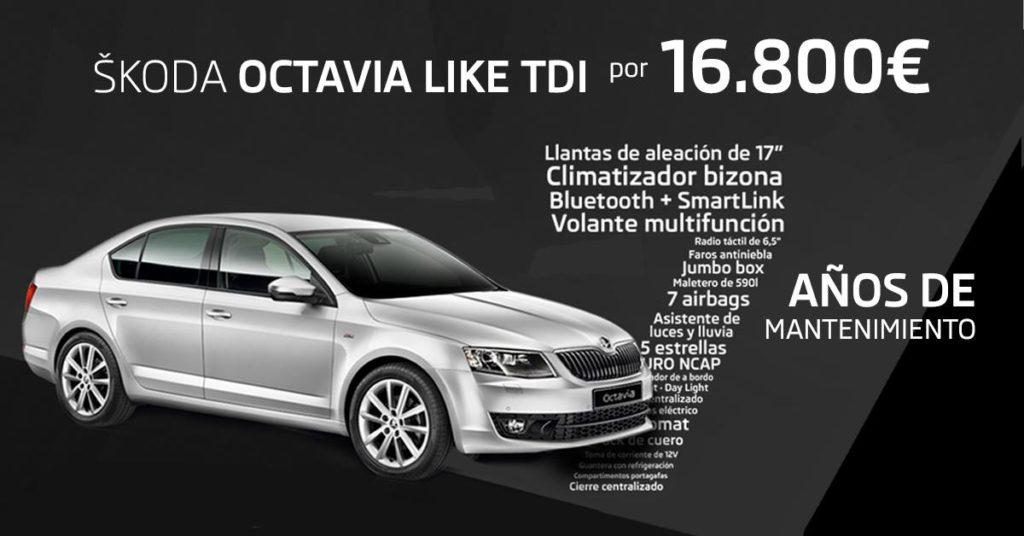Skoda Octavia Like TDI por 16.800€